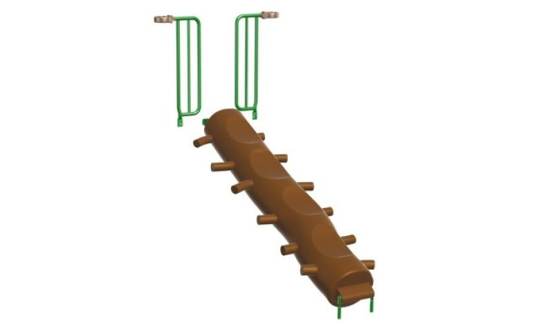 S-1291-R5_Inclined Log Climber_Half Walls_48